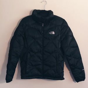 black north face down puffer jacket